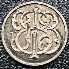 Love Token Seated Liberty Dime 10c Two Sides Engraved  #19094