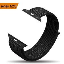 Apple Watch Sport Loop Band 42mm AMBAND Series 1/2/3/Sport/Nike+ Black White NEW