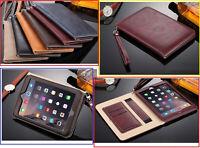Genuine Premium Leather Flip Stand Case Cover For iPad AIR Mini Pro 10.5 10.2