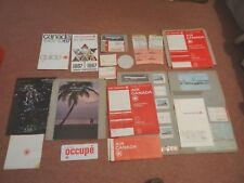 AIR CANADA 1967 EPHEMERA , ROUTE MAP, TIMETABLES, TICKET BOOKS, BAGGAGE LABELS..