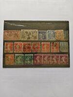 France Lot de 26 timbres perforés oblitérés semeuse / Stamp