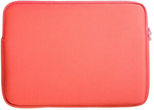 """Durable Neoprene Material Laptop Sleeve for 15.6"""" Laptop - Coral"""