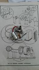 Piastra Ruttore Originale Aermacchi H/D Ala Verde/BLU/G.T. 250 cc. art 5056
