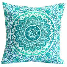 Ombre Mandala Sofa Tapestry Pillow Cover Indian Hippie Bohemian Cushion Cover