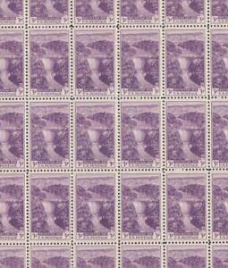 Album Treasures U S Scott # 774 3c 1935 Boulder Dam Full Sheet of 50 Mint NH