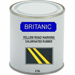 Road Line Marking Paint  2.5 Litre Yellow - Chlorinated Rubber