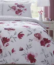 Dreams 'n' Drapes Celestine Floral Reversible Duvet Cover Set Blush Single
