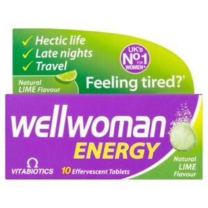 Vitabiotics Wellwoman Energy Natural Lime Flavour - 10 Effervescent Tablets
