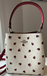 Coach Ladybug Print Small Town Bucket Bag style No. 2801 NWT $350