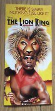 "Disney ""The Lion King"" Gatefold Promotional Flyer West End London #1"