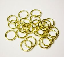 Brass Jump Ring 20Ga Wire 4 MM O/D (pkg.Of 340 /1/2 Oz Saw-Cut Made In USA