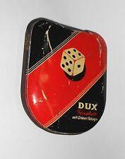 Alte Tabak Blechdose Dux Feinschnitt mit Orient Tabaken Reiners&Co Bremen 1930er