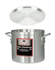 "Winco 16"" x 17"" Pot with Cover, Aluminum Professional Sauce Pot with Lid"