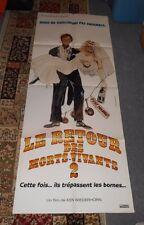 original RETURN OF THE LIVING DEAD PART II FRENCH 61x23 DOOR PANEL POSTER marrie