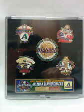 Arizona Diamondbacks 2001 World Series Limited Edition Collector Pin Set -SEALED