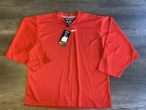 Bauer Team Hockey Jersey Red Youth X-Large