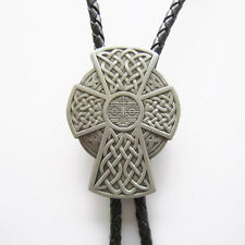 Leather Necklace also Stock in Us Vintage Celtic Iron Cross Bolo Tie Wedding