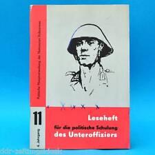 Leseheft für die politische Schulung des Unteroffiziers der NVA Nr. 11/1974 DDR