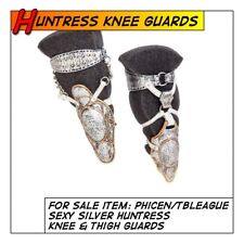 Phicen/TBLeague Hot Silver Huntress Knee & Thigh Guards for 1/6 12 in scale Toys
