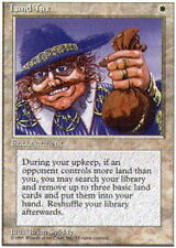 Alternate Fourth Edition (wax back) Land Tax x1 Moderate Play, English Magic Mtg