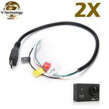 2X SJ4000 SJ5000  AV Video Micro USB Kabel FPV QUMOX HD SJCAM   K-A02 m2