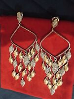 John Hardy Large Palu 22k Gold And Silver Diamond Chandelier Earrings $3,495