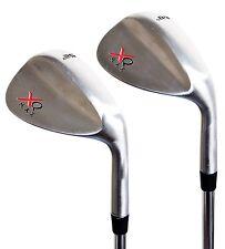 XQ Max Tour Golf Chrome Wedge Set 52 & 60 Degree steel shaft clubs Gap & Lob
