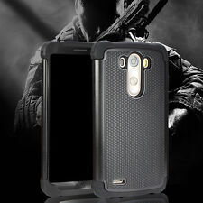 Shockproof Protective Hybrid Armor Phone Cover Case HD Screen Films for LG G3