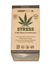 Nature's Plus Hempceutix 5 mg Stress 60 Capsules EXP 01/2023+
