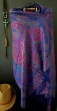 Tassels Paisley Rectangle Scarves and Wraps for Women