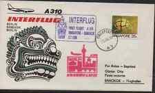INTERFLUG ERSTFLUG SINGAPORE - BANGKOK THAILAND 1989 AIRBUS A310