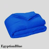 Egyptian Cotton Down Alternative Comforter All US Size Egyptian Blue Striped