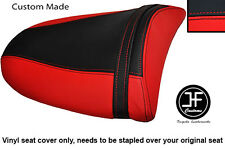 RED & BLACK VINYL CUSTOM FITS KAWASAKI NINJA ZX6R 03-04 REAR PILLION SEAT COVER