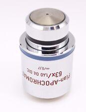 Zeiss Plan Apochromat 63x 1.40 Oil DIC Microscope Objective 440762 Apo Planapo