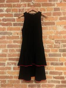 Proenza Schouler Black Womens Sleeveless Waisted Knit Dress Black Size M
