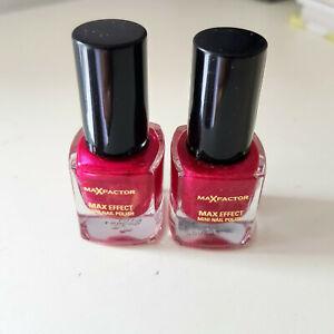 2 Max Factor Max Effect Mini Nail Polish Pink Shimmer 4.5ml ...Halloween,Goth