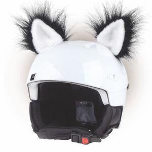 Katzenohren Helmohren für Helm Ohren Helmet Ears Skihelm Katzen Katze Schwarz