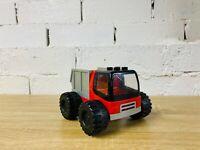 LEGO Duplo Red Black Buggy Truck Big Wheeler Monster Tires Dump Construction