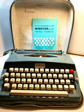 Vintage Blue Brother Webster XL-500 Nice Working Manual Typewriter with Case
