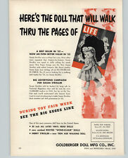"""1953 PAPER AD 2 PG Goldberger Doll Company Susan Stroller Eegee 17"""" 23"""" 30"""""""