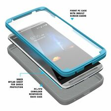 For ZTE AXON 7 Poetic Revolution Heavy Duty Hybrid Shockproof Rugged Case Blue