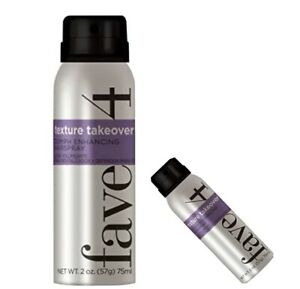Fave4 Texture Takeover Oomph Enhancing Hairspray Travel Size 2 oz Free Shipping!