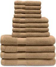 12-pc Superior Egyptian Cotton Towel Set 4 Bath, 4 Hand, 4 Face Towels Sedona