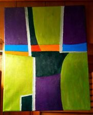 """Original-One of Kind-Oil/Canvas Painting-"""" Abstract""""-Signed-COA-Listed Art"""