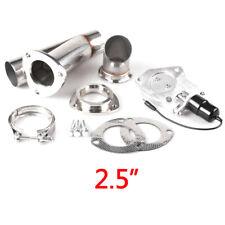 "2.5"" Inch 63mm Electric Exhaust Muffler Valve Cutout System Dump Wireless Remote"