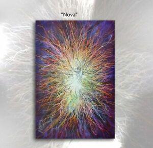 Original Michael Lang Abstract ART Painting 'NOVA' Decor Certified U.S. Fluid,