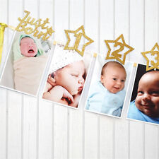 baby growth record 1-12 mouth photo ribbon banner for 1st birthday party