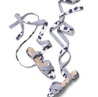 Cabi Spring  Watercolor Tied Up Sandal #6013 Size 10M New $109