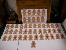 Laminated Magnetic Christmas Gingerbread Men 47 Piece Alphabet & Number Set