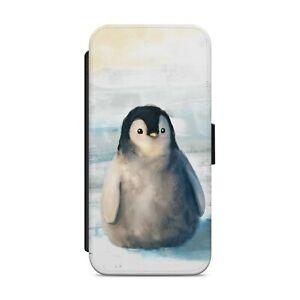 LITTLE PENGUIN ART ANIMAL WALLET FLIP PHONE CASE COVER FOR IPHONE SAMSUNG    s09